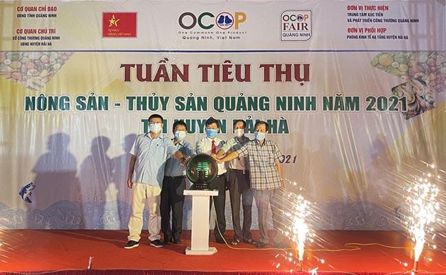 Tuần tiêu thụ nông sản - thủy sản Quảng Ninh năm 2021 tại huyện Hải Hà